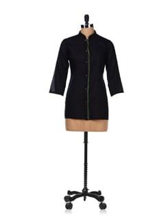 Sheer Black Shirt Kurti - Vedanta