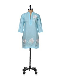 Sky Blue Embroidered Kurta - Vedanta