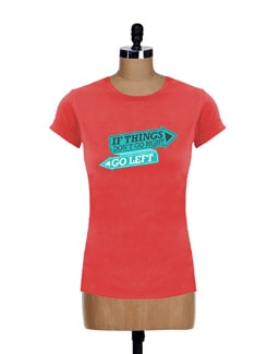 Bright Orange Printed Tee - Incynk