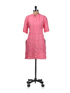 Embroidered Kurta- Pink - SHREE