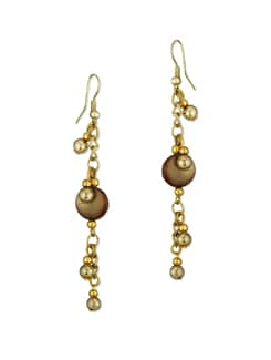 Simple Gold Beaded Earrings - Accessory Bug