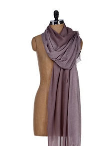 Grape Shake Polka Dotted Scarf - Femella