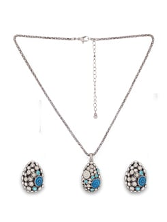 Blue And Silver Teardrop Set - THE PARI