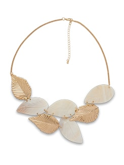 Shell And Gold Leaf Necklace - THE PARI
