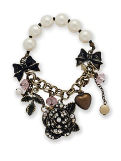 Pearl And Charm Bracelet - THE PARI