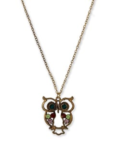 Owl Pendant Gold Necklace - THE PARI