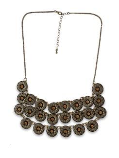 Antique Flower Cluster Necklace - THE PARI
