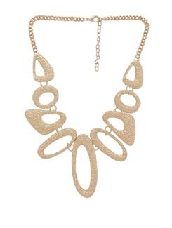 Gold Hollow Geometric Necklace - THE PARI