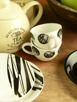 Trendy Cup And Saucer Set Of 6 - Clay Craft