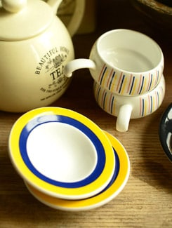 Liliput Cup And Saucer -set Of 6 - Clay Craft