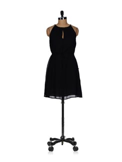Embellished Chic Black Dress - Tops And Tunics