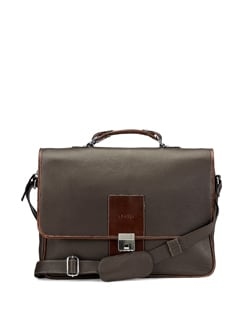 Briefcase Style Brown Bag - ADAMIS