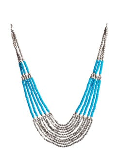 Blue Beaded Necklace - Accessory Bug