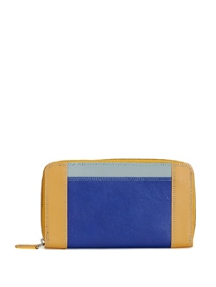 Stylish Blue And Beige Wallet - ADAMIS