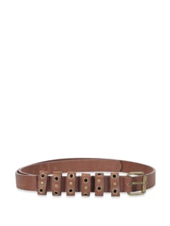 Brown Multi Looped Belt - M TV