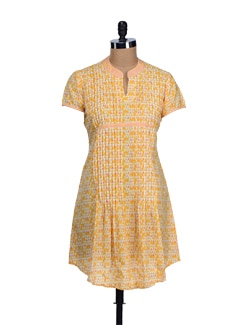 Yellow Triangle Print Kurti - KILOL