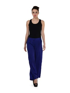Methyl Blue Printed Palazzo Pants - NUN