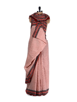 Geometric Prints Saree - Nanni Creations