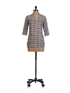 Shades of Grey Kurti - Fami India