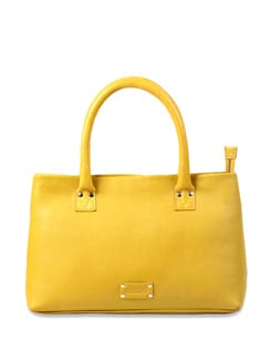 Trendy yellow handbag - Brune