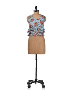 Flirtatious Floral Crop Top - Miss Chase