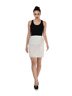 White Lace Skirt - Miss Chase