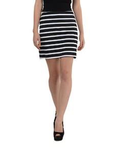 Striped Fitted Skirt - Miss Chase
