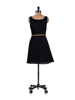 Black Peter Pan Summer Dress - Miss Chase
