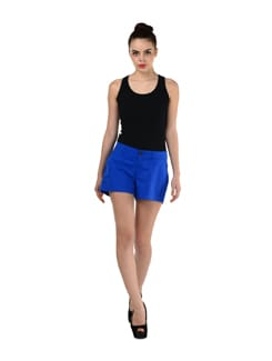 Blue Casual Shorts - Miss Chase
