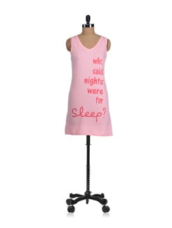 Who Said Nights Were For Sleep Night Shirt - Miss Chase