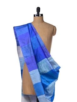 Colour Harmony Blue Silk Stole - Creative Bee