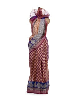 Multicoloured Handloom Cotton Silk Saree - Bunkar
