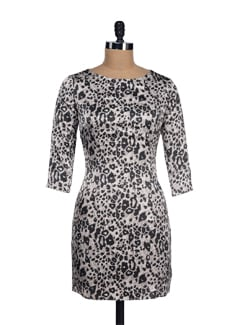 Chic Leopard Print Satin Dress - I KNOW By Timsy & Siddhartha