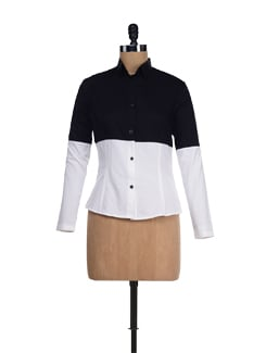 Trendy Black & White Retro Shirt - I KNOW By Timsy & Siddhartha
