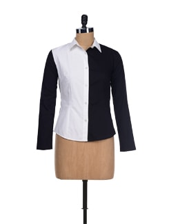 Stylish Black & White Retro Shirt - I KNOW By Timsy & Siddhartha
