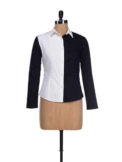 Stylish Black & White Retro Shirt - I KNOW By Timsy & Siddhartha