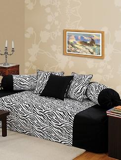 Zebra Print Diwan Set - SWAYAM