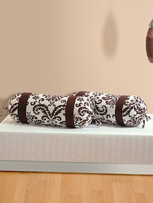 Ornate Motif Print Bolster Covers (Set of 2)