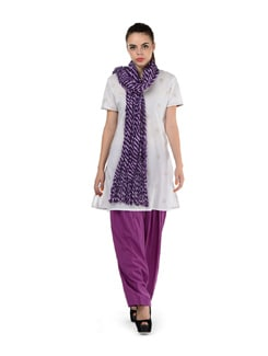 Sparkling Onion Semi-patiala Salwar With Dupatta - MY COLORS