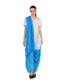 Victoria Blue Patiala Salwar With Dupatta - MY COLORS