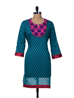 Cotton Printed Kurta - TEEJ
