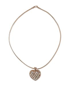 Gold Heart Pendant Necklace - Addons