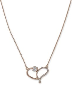 Gold Sling Heart Pendant Necklace - Addons