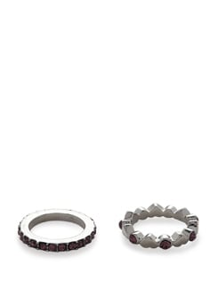 Sparkling Diamond Studded Rings - Set of 2 - Addons