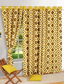 Vibrant Pattern Drape In Brown - SWAYAM