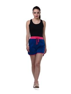 Indigo Blue And Pink Shorts - GRITSTONES