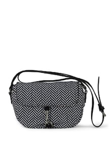 Black & White Printed Cross Body Bag