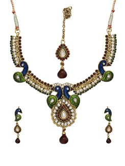 Sparkling Peacock Necklace Set - Sparkling Deals