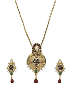 Traditional Gold Chunky Necklace Set - Sparkling Deals