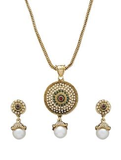 Golden Pearl Necklace Set - Sparkling Deals